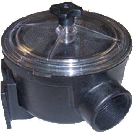 Forespar MF810 Marelon Water Strainer, 1-1/2 inch, Black