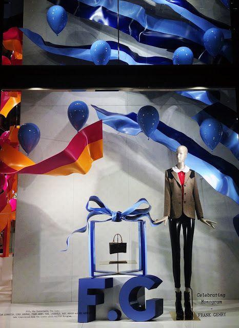 """Louis Vuitton,NEW YORK,""""Celebrating Monograms"""",(Frank Gehry), pinned by Ton van der Veer"""