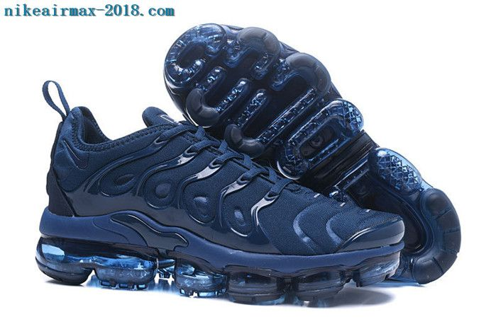 2731350e0242 2018 Nike Air Vapormax Plus Mens Sneakers Black Navy Blue