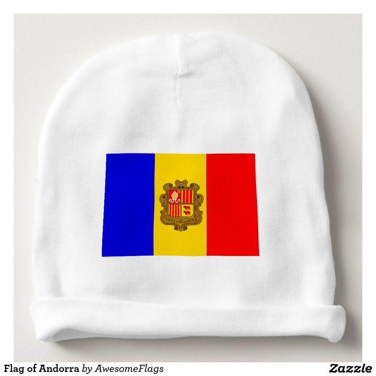 Flag of Andorra Baby Beanie