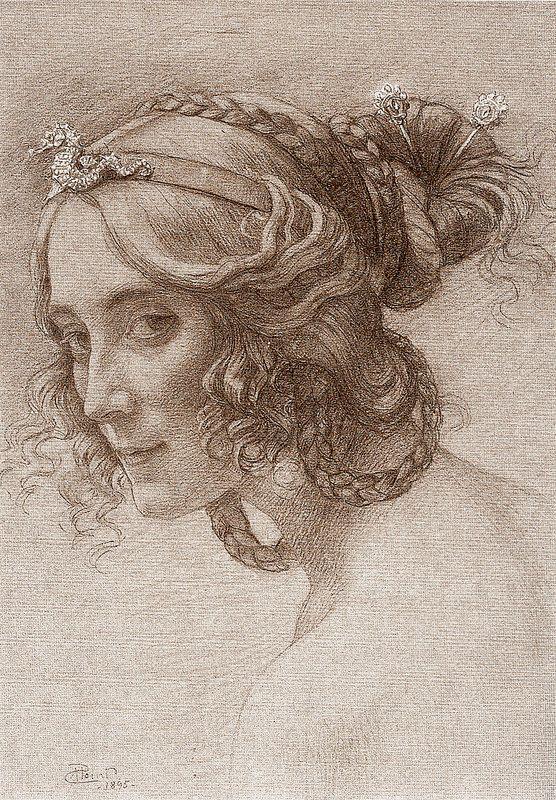 Portrait de Madame Berthelot, 1895 - Armand Point (French, 1861-1932) - Symbolism
