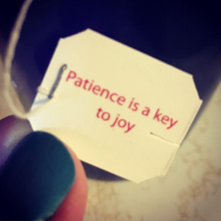 Patience is a key.