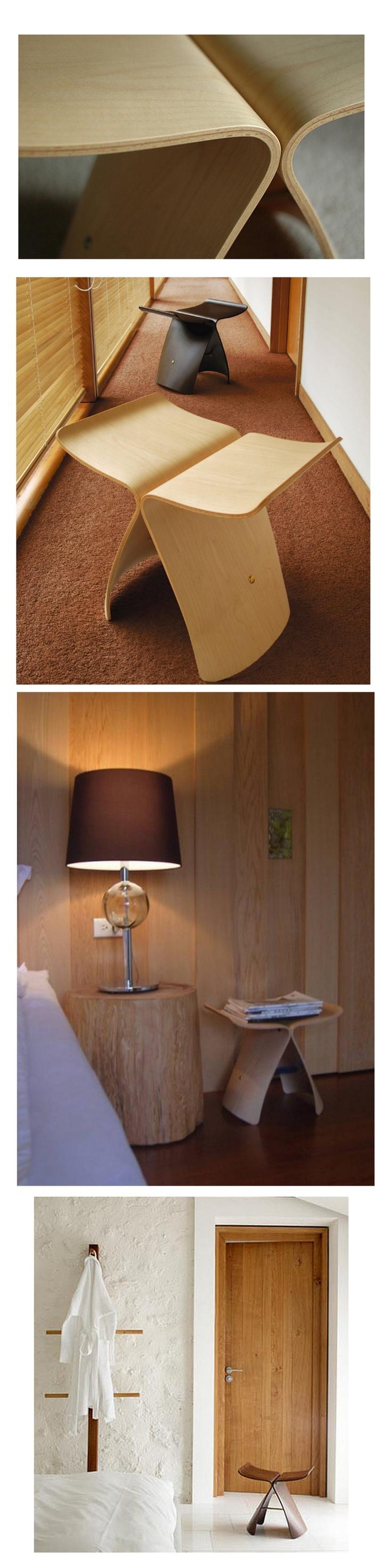 「天童木工」蝴蝶凳