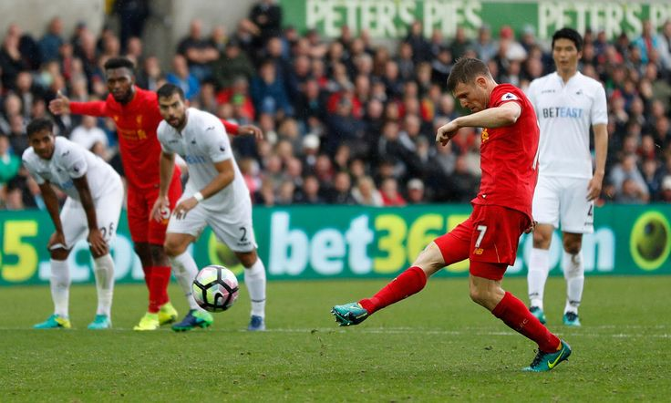 James Milner skóre Liverpool druhý gól z pokutového kopu