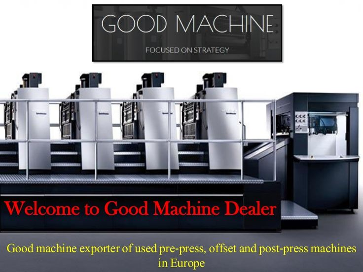 Buy Second Hand Offset Printing Machines at goodmachine | Good machine is one of the most trusted, recognized and active exporter of used offset machines in Europe. At Good Machine, we have a lot of expertise and experience in dealing of printing machines industry in CZECH REPUBLIC.  https://goo.gl/QkZ3Oq