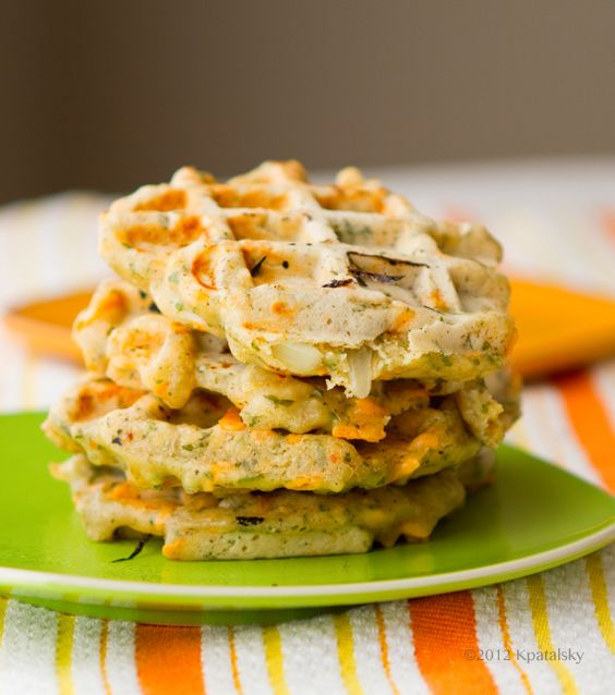 Savory Cheezy Herbed Waffles. - Healthy. Happy. Life. #vegan