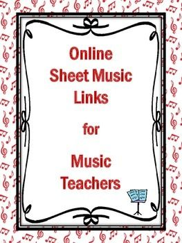 FIVE pages of links to FREE Online Sheet Music Sites