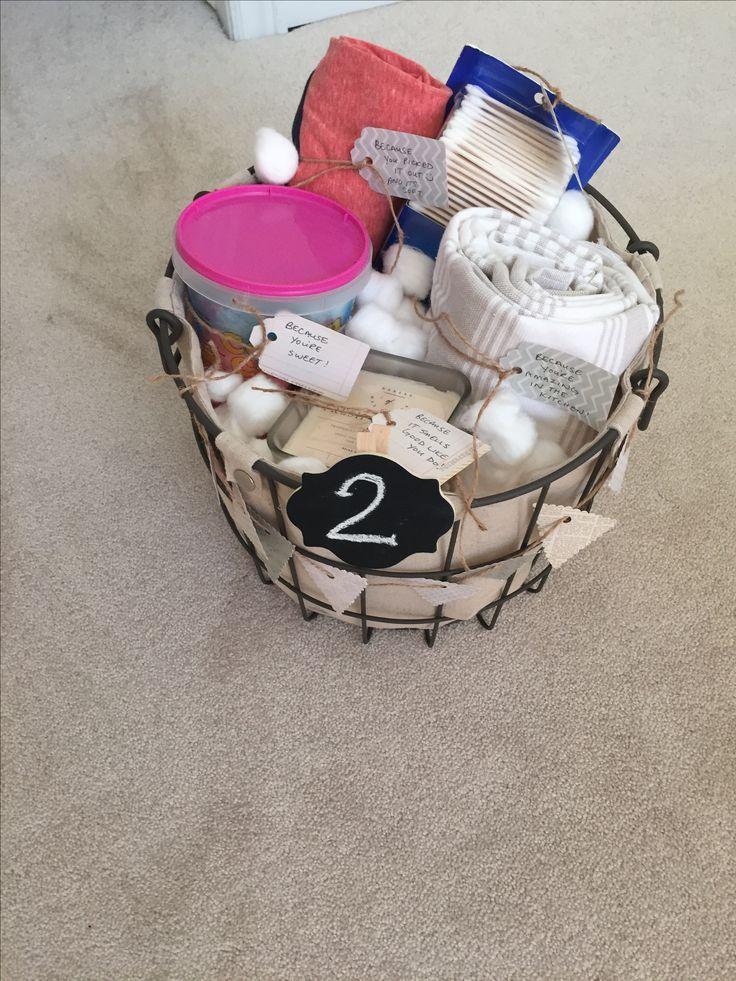 2nd wedding anniversary cotton themed gift basket cotton
