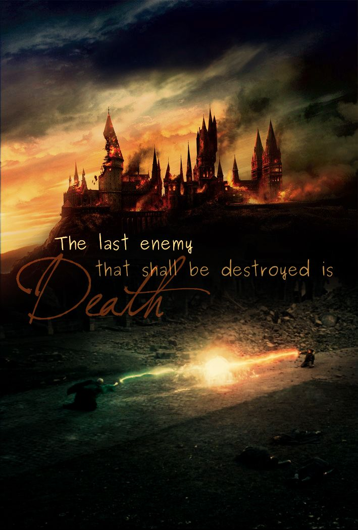 Funny how Harry Potter started out as the devil's children's lit and ended by straight up quoting the Bible.