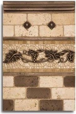 Kitchen Backsplash metal tiles and decorative accents - mediterranean - kitchen tile - other metro - Linda Paul