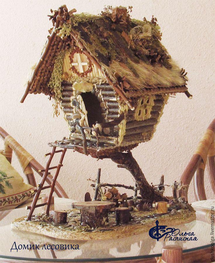 Купить Дом, vip вип подарок, избушка на курьих ножках - тёмно-зелёный, кукольный дом