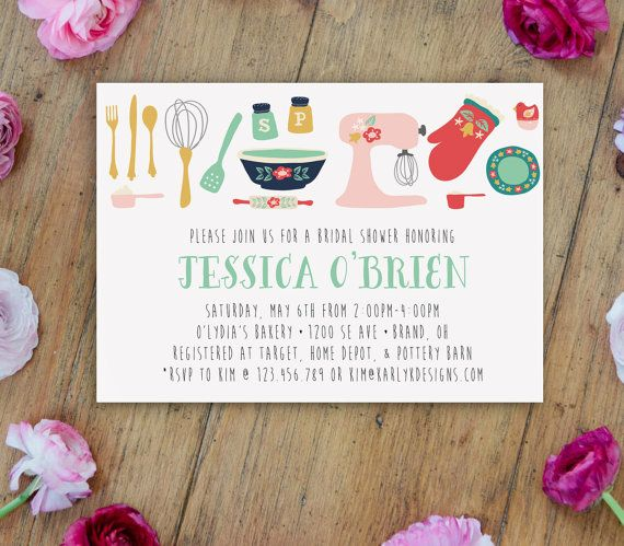 Kitchen Bridal Shower Invitation Printable by KarlyKDesignShop