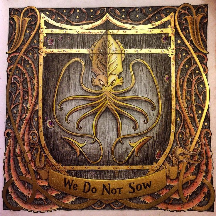 House Greyjoy My Husband Favorite Gameofthronescoloringbook Gotcoloringbook Gotcoloringbooks Game ThronesAdult ColoringColouring Book