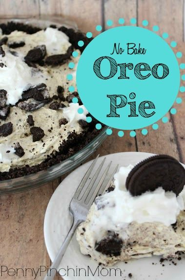 If you love pie and you love Oreos then you have got to try this SIMPLE No Bake Oreo Pie!  It take no time to make it up – and within a few hours you'll be enjoying this delicious dessert.