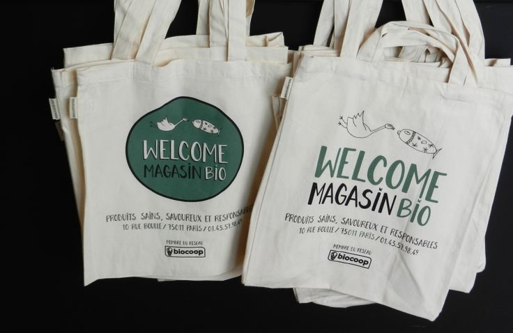 Des sacs en tissu pour des courses de consommateurs responsables !  Biocoop 11e