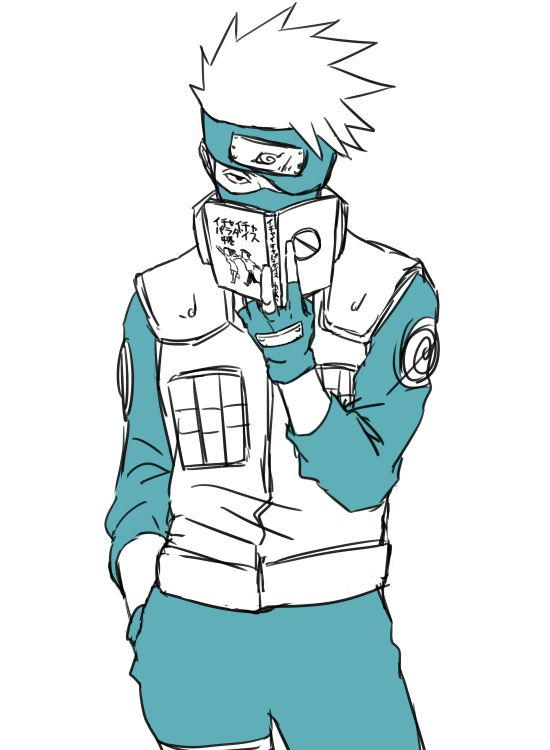 Oh kakashi... reading ichi icha in public again ...