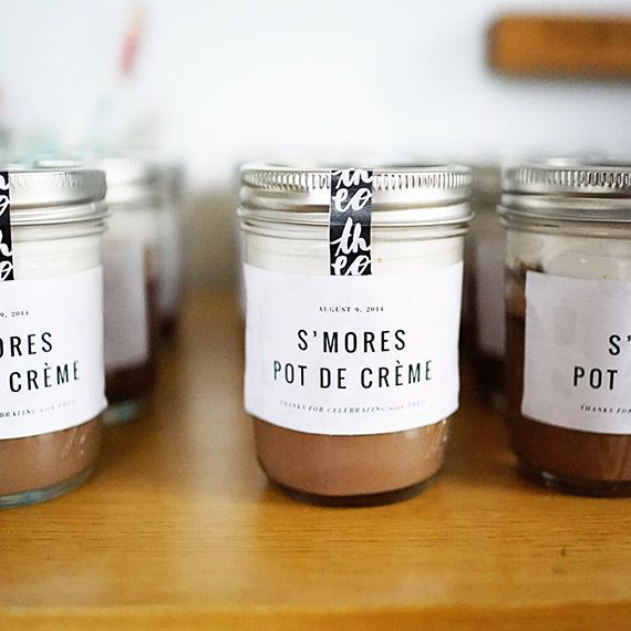 s'more party favors | Theo's food-themed 2nd birthday by Good On Paper Design | 100 Layer Cakelet