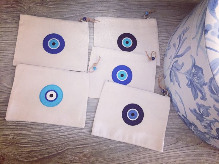 our embroidered evileye zip pouches!! www.cottonprince.gr