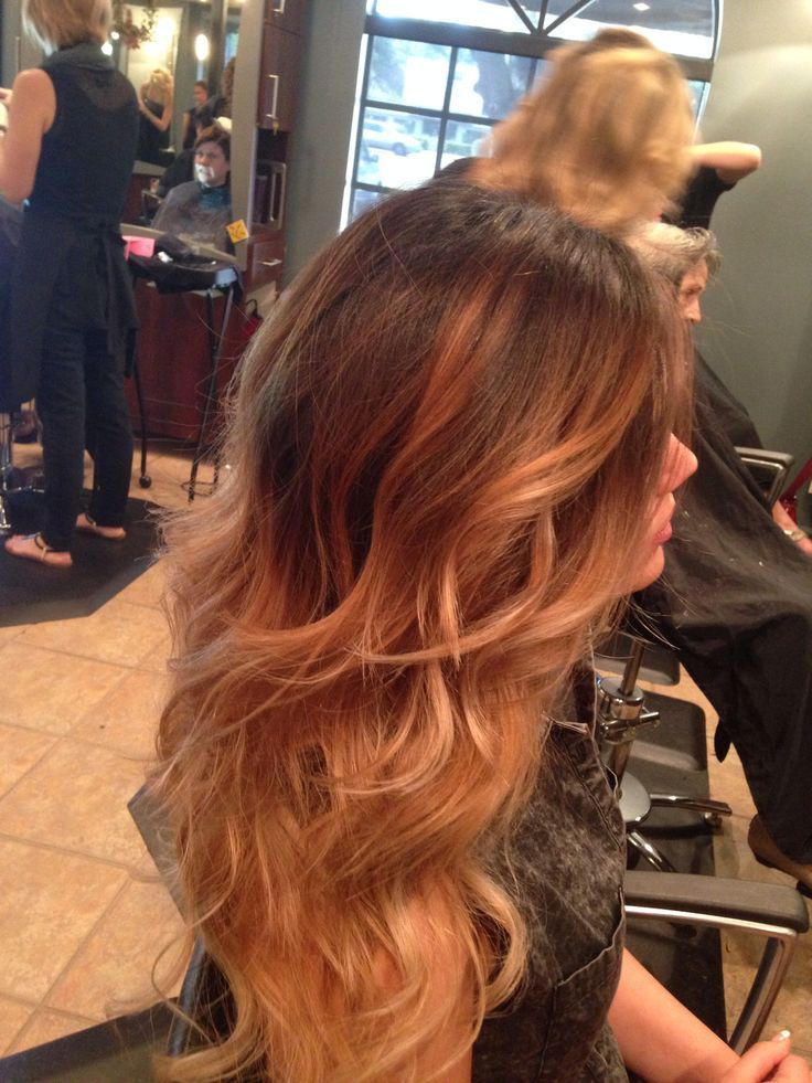 Ombre Hair Caramel To Brown Bronde Hair Color