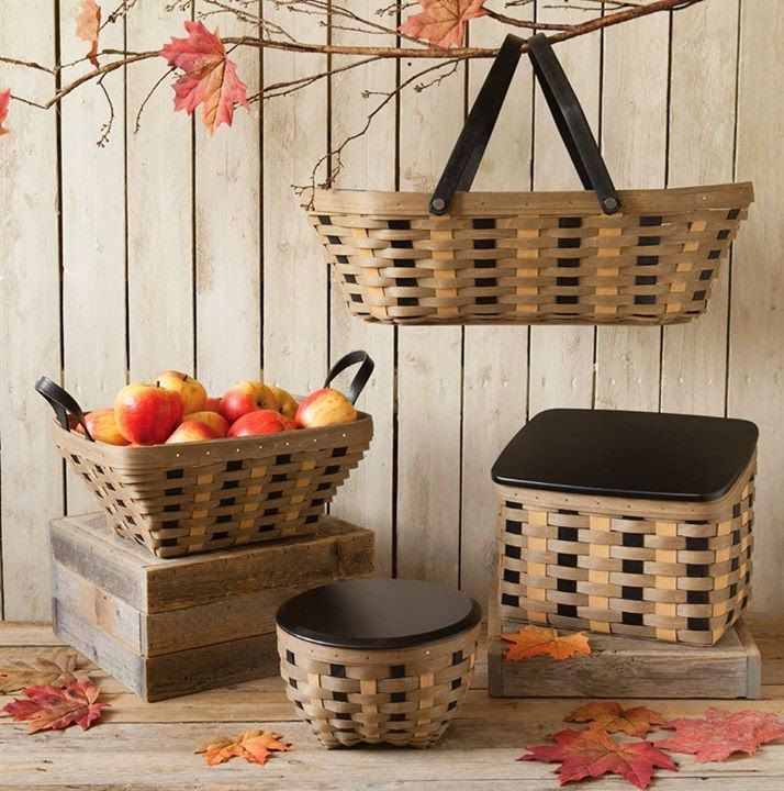 Ideas with khaki check baskets basket ideas organizing Decoration kaki