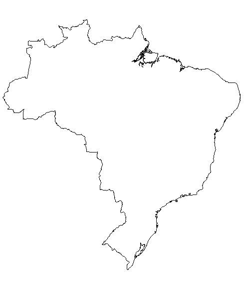 Brazil Map Coloring Page   free blank outline map of brazil brazil information outline maps index ...