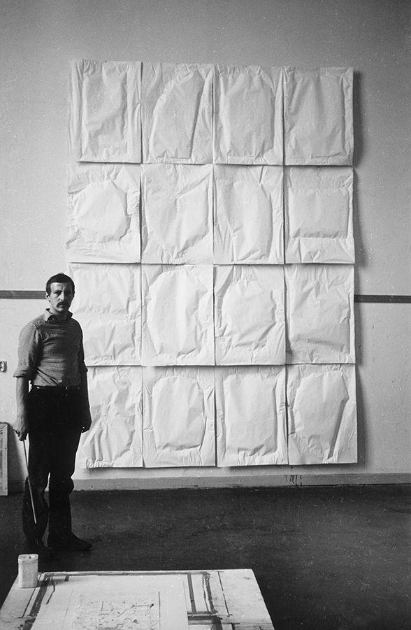 Franz Erhard Walther Large Paper Work 16 Air Enclosures 1962