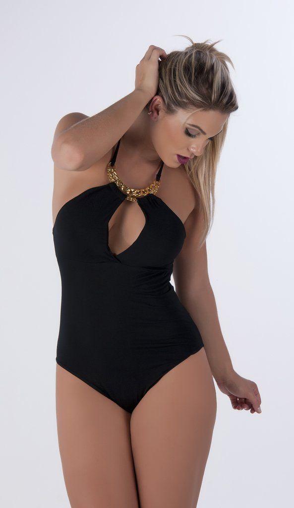 dba2b8e291 Veja nosso novo produto Body Decotado Feminino Bojo Corrente Primavera Verão  2018! Se gostar