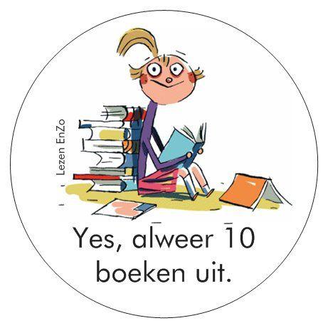 Yes, alweer 10 boeken uit. Kiezen uit de bak van 10 voor een leuke verrassing. Echt verdiend. Super hoor. Wist je al dat kinderen die veel lezen per jaar 1000 woorden extra aan hun woordenschat toevoegen. Je wordt dus steeds slimmer.