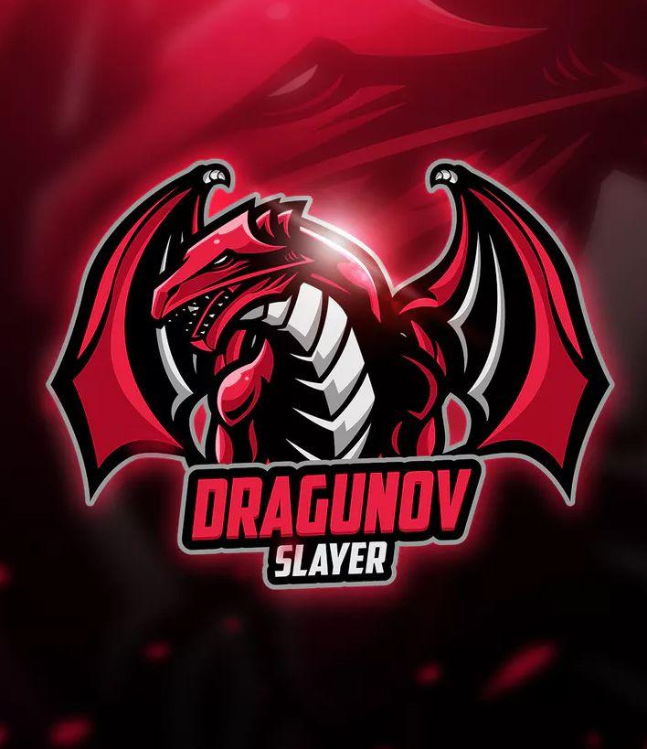 Dragunov Mascot Esport Logo By Aqrstudio On Envato Elements Logos Esportivos Logotipo Do Jogo Logotipo
