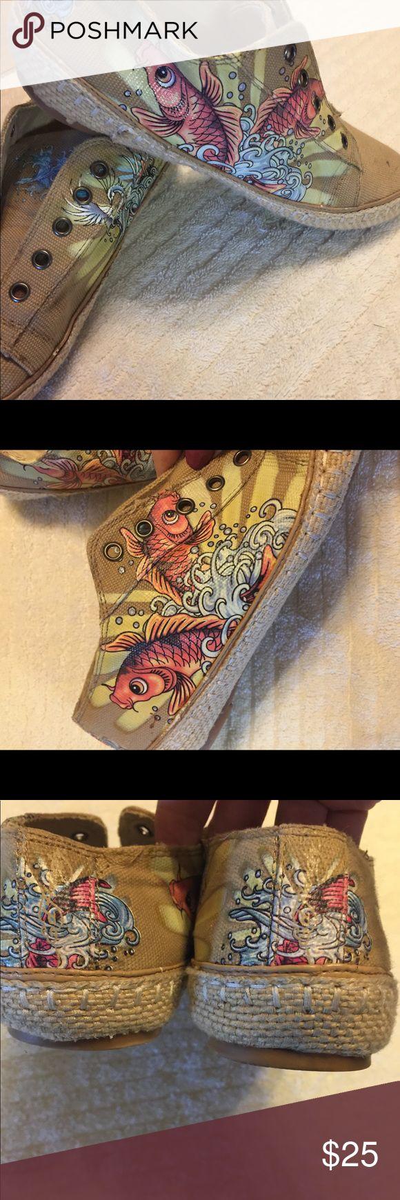 Koi fish Ed Hardy shoes Interesting and fun Ed Hardy shoes Ed Hardy Shoes Flats & Loafers