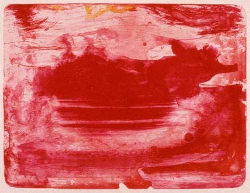 HELEN FRANKENTHALER THE RED SEA 1982 color lithograph 24 x 28 inches