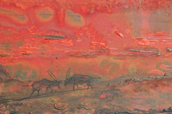 """Gemsbok Fire 02"" by Melanie Meyer from her Emergence Art Gallery in Cape Town"