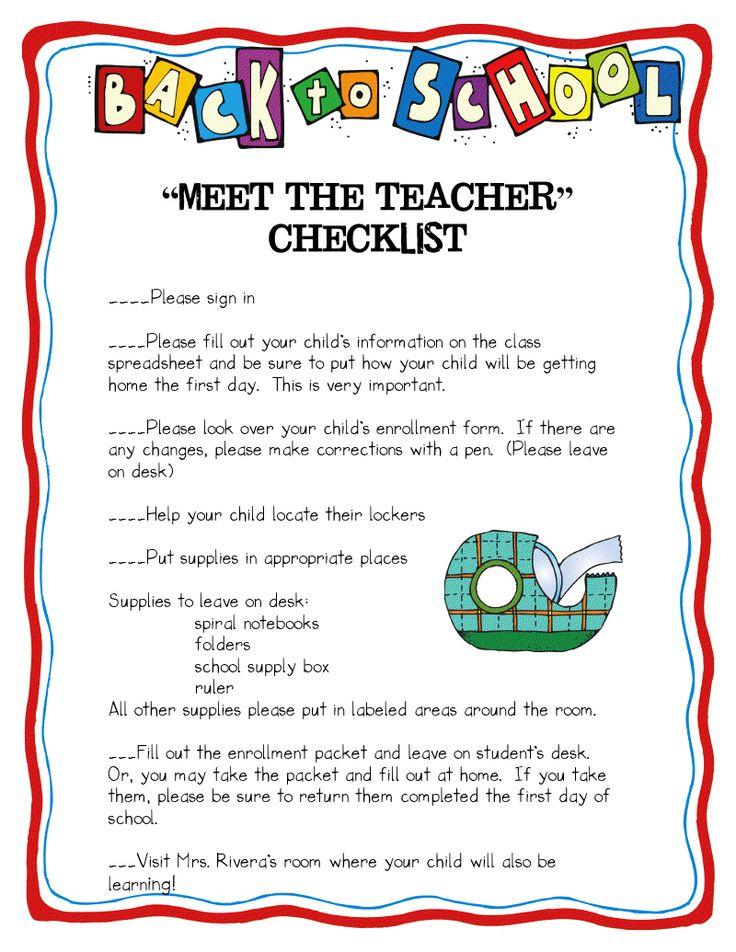 Step into 2nd Grade with Mrs. Lemons: Classroom Organization: Open House, 2Nd Grades, School Year, Teacher Checklist, School Night, School Ideas, House Idea, Teacher Night, Classroom Organization