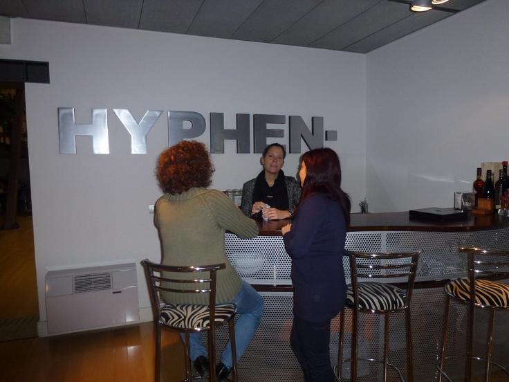 First coffee at Hyphen bar