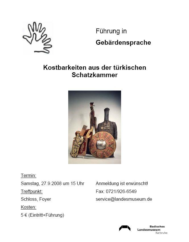 Badisches Landesmuseum bietet regelmäßige Führungen in Gebärdensprache an - http://www.gehoerlosblog.de/badisches-landesmuseum-bietet-regelmasige-fuhrungen-in-gebardensprache-an/