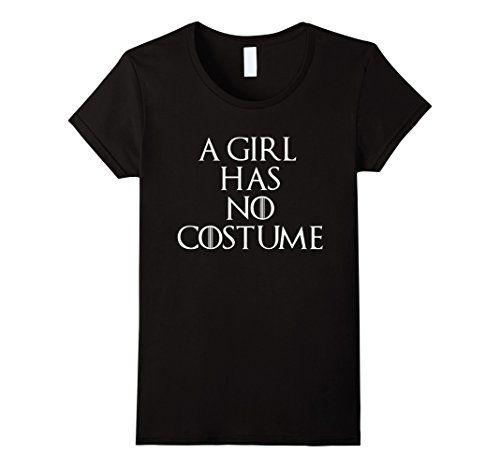 ":D   ""A Girl Has No Costume"" Halloween Shirt Small Black..."