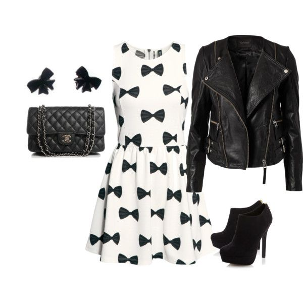 How cute is this look? Girly and Edgy combined, it's perfect!