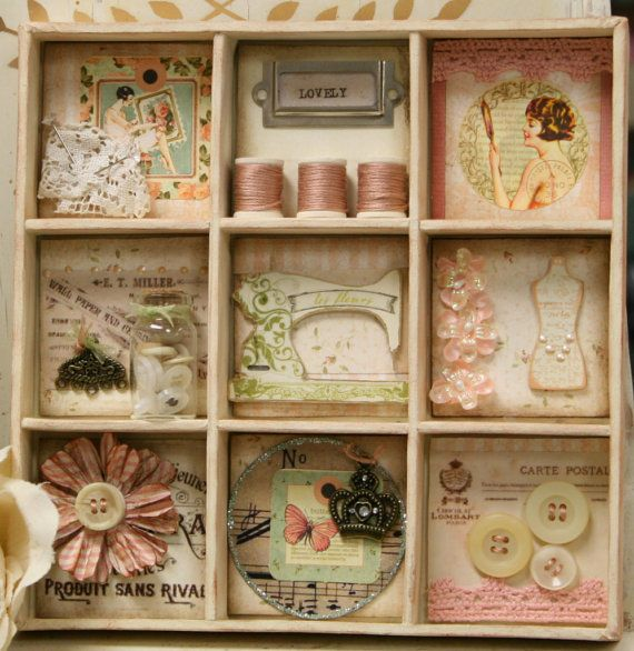 Vintage Shadow Box Collage