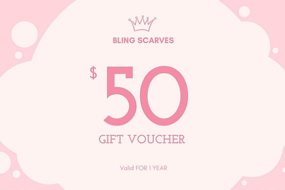 Gift Card for Christmas Last Minute Gift Idea by BlingScarves