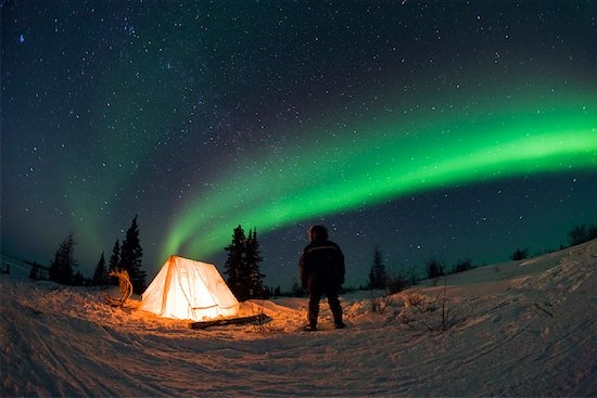 Camping under the Northern Lights, it's on the bucket list.