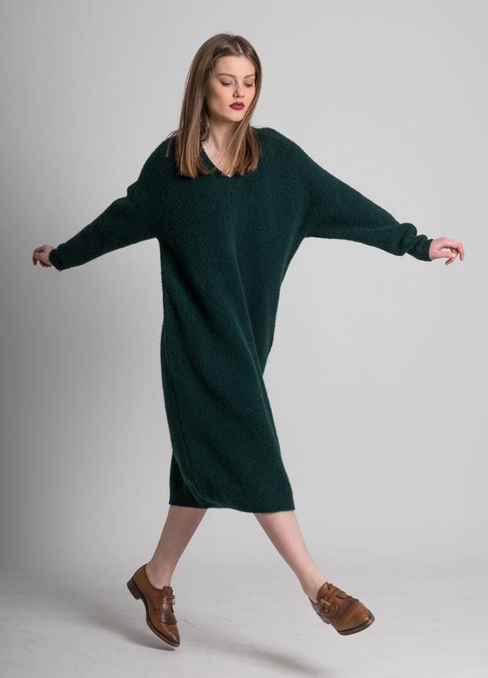 "Green  ""FREYA"" oversized sweater #karavan #karavanclothing #karavangirl"