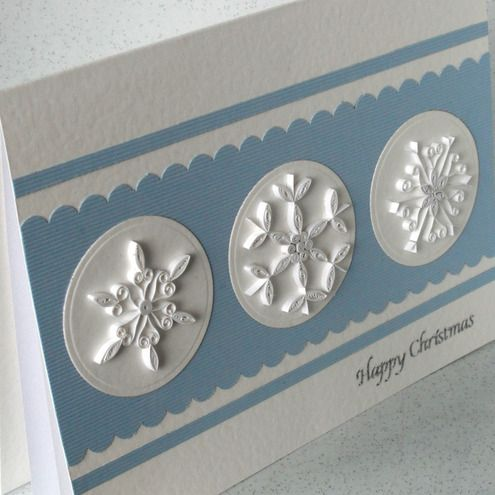 Love the idea of quilled snowflakes on a card...hmmmmm