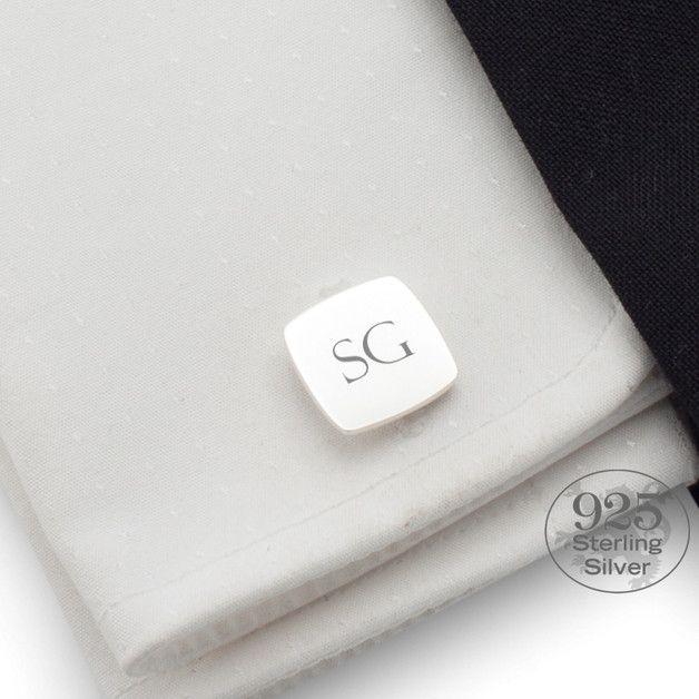 Manschettenknöpfe - Silber Manschettenknöpfe Initialen | Silber 925 - ein Designerstück von ZaNa-Design bei DaWanda