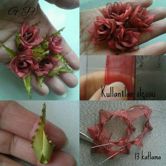 Minik güllerimin yapılışı Tasarımımdır