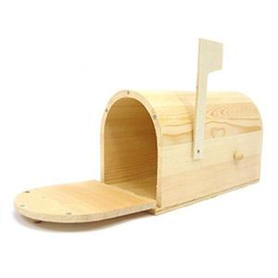 Shop Traditional Mailbox & Unfinished Wood at Joann.com Perfect for the outdoor playhouse!