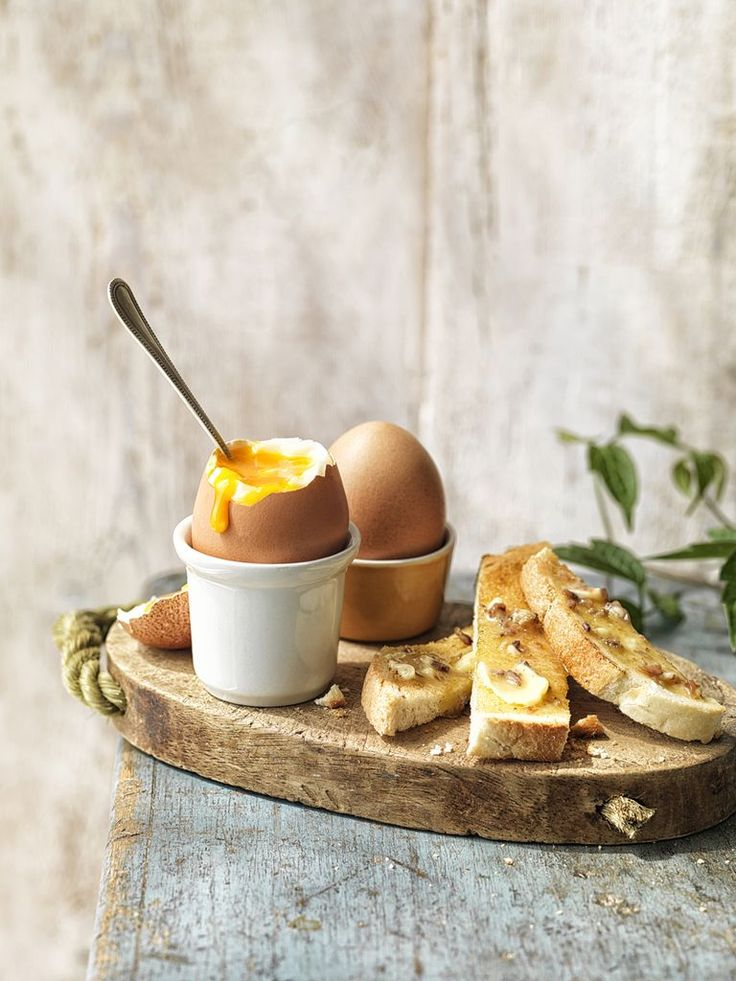 coddled eggs with buttered toast
