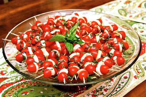 Dicas para uma mesa bonita, bem decorada e saudável - Caprese Skewers with a Twist Recipe