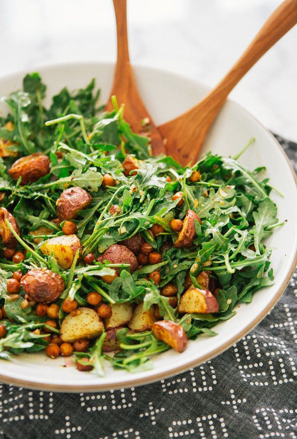 Roasted Potato And Paprika Chickpea Salad