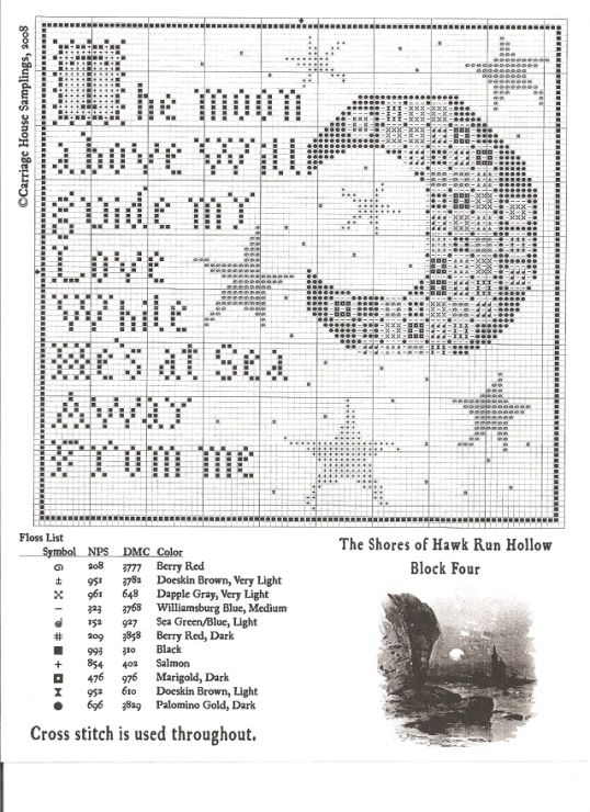 Carriage House Hawk Run Hollow additionally Gingham Cross Stitch Patterns besides  on carriage house samplings
