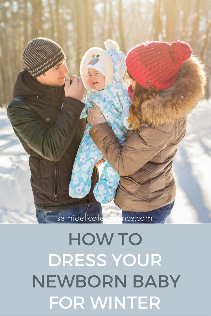 Great tips on how to dress your newborn baby for winter, must read for any parent